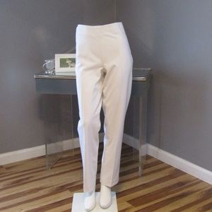 NEW Talbots Classic Side Zip Pants White Size 6